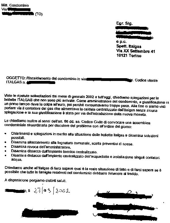 La Lettera Allu0027amministratore Del Condominio