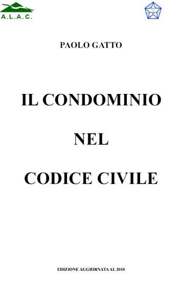 Paolo Gatto - Il Condominio nel Codice Civile - copertina del libro