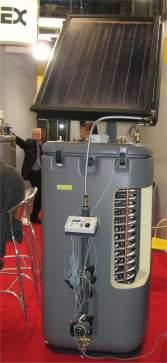 Gas Solar Unit Rotex esposizione modello serbatoio senza caldaia con pannello solare
