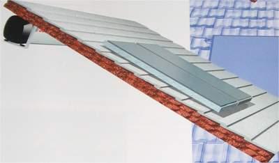 pannelli fototermici solahart su tetto con serbatoio accumulo sottotetto